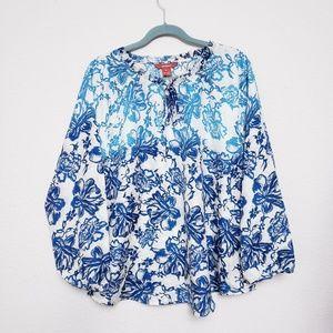 Sundance Silk Floral Top XL